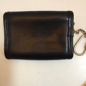 Coach Bags - Coach black leather Keychain Wallet